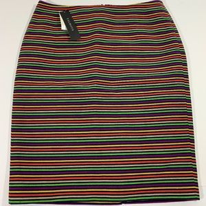 Talbots Multicolor Holiday Line Pencil Skirt 2 P